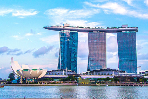 Shutterstock.com nuotr./Marina Bay Sands dangoraižis, Singapūras