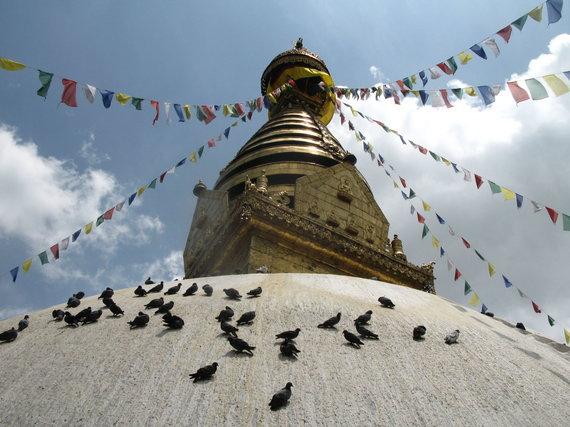 G.Juocevičiūtės nuotr./Svajambunato stupa – bene seniausia Nepale