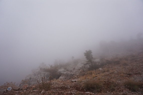 Aušrinės nuotr./Rūkas kalnuose