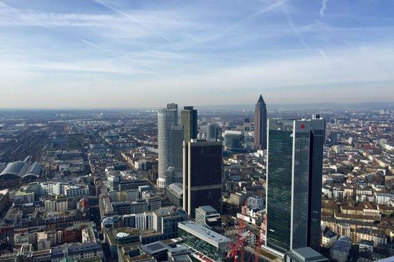 """V.Mikaičio nuotr./Frankfurto vaizdas nuo """"Main Tower"""""""