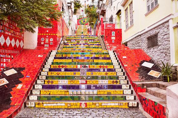 Shutterstock.com nuotr./Selarono laiptai, Brazilija