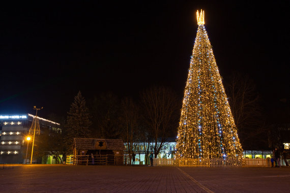 Druskininkų savivaldybės nuotr./Kalėdų laukiantys Druskininkai