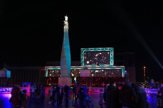 Marijampolės sav. nuotr./Kalėdų eglės įžiebimas Marijampolėje