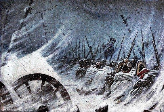Prancūzai kare su Rusija. V.Vereščiagino paveikslas