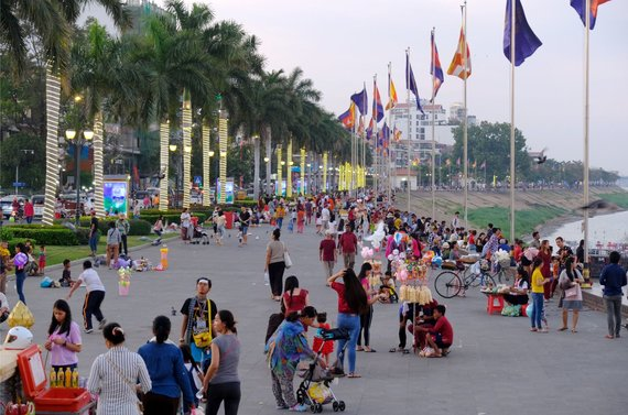 Ievos Bašarovienės nuotr./Mekongo upės promeda yra mėgiama tiek vietinių, tiek ir turistų
