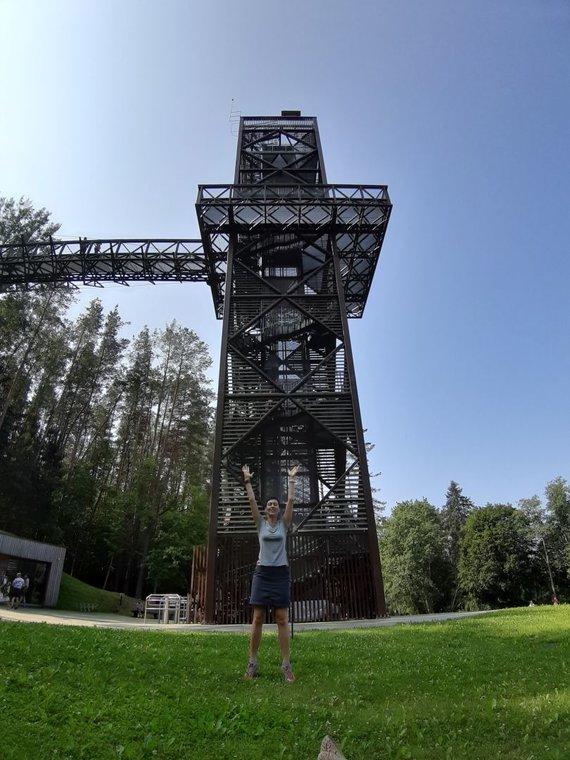 checkinlithuania.com nuotr./Medžių lajų tako apžvalgos bokštas