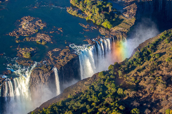 Shutterstock.com nuotr./Viktorijos krioklys, Zambija ir Zimbabvė