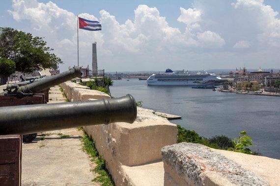 K,Stalnionytės nuotr./Šv. Karolio tvirtovės patrankos nukreiptos į Havanos uostą