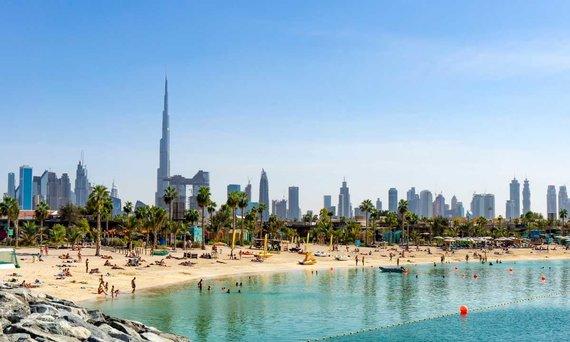 Shutterstock.com nuotr./Paplūdimys Dubajuje