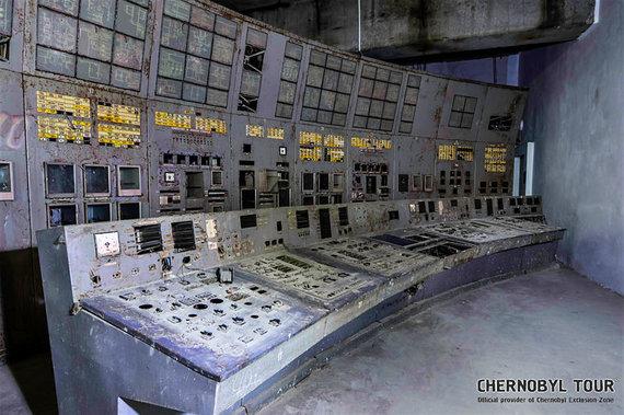 Chernobyl Tour nuotr./Černobylio atominės elektrinės 4-tojo reaktoriaus valdymo skyrius