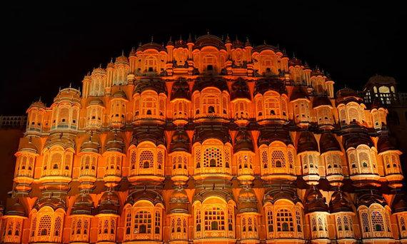 D.Barkausko nuotr./Hawa Mahal, Indija