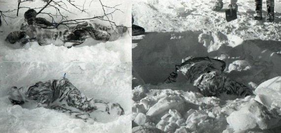 Sovietų Sąjungos archyvų nuotr./Diatlovo, Kolomogorovos ir Slobodino kūnai