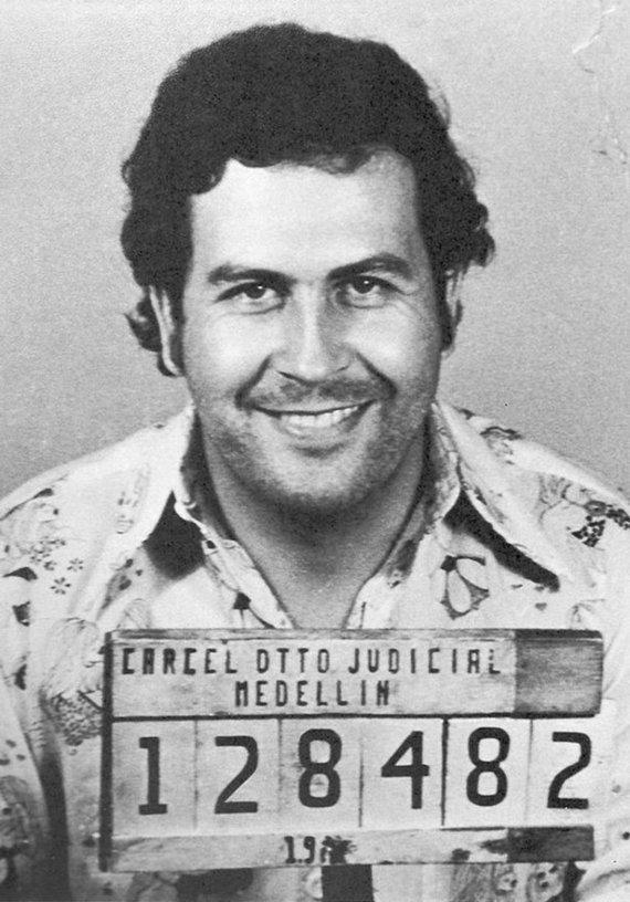 Kolumbijos policijos nuotr./Pablo Escobaras