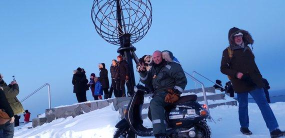 Asm.archyvo nuotr./Vygintas Ušinskas kelionėje iki Nordkapo
