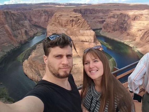 Labiausiai įsiminusi - povestuvinė kelionė į JAV, kur tris savaites pora keliavo po įspūdingiausius nacionalinius parkus, sostinę ir Didįjį kanjoną