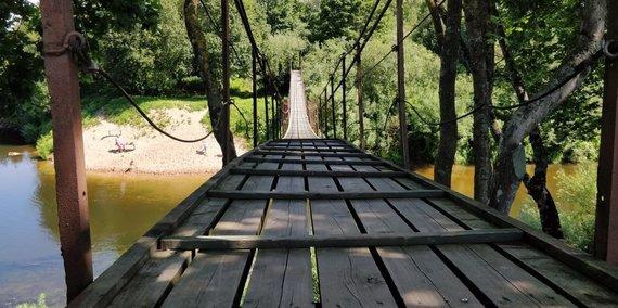 PamatykLietuvoje.lt nuotr./Dituvos kabantis tiltas per Miniją