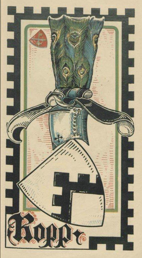 Šaltinis: Baltischer Wappen Calendar 1902/Baronų von der Roppų herbas