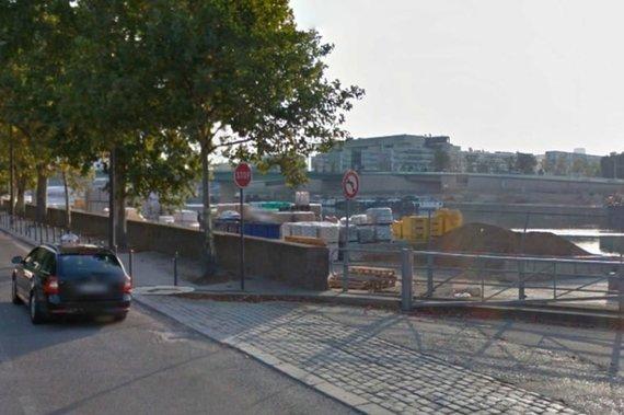 Google maps iliustr./Vienintelis Paryžiuje buvęs Stop ženklas