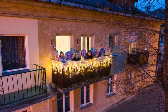 Ado Vasiliausko nuotr./Vitalijos balkonas Saldžiausios Kalėdos
