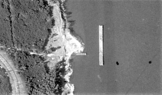 Ve.lt nuotr./Reta bazės aeronuotrauka, daryta praėjusio amžiaus dešimtajame dešimtmetyje