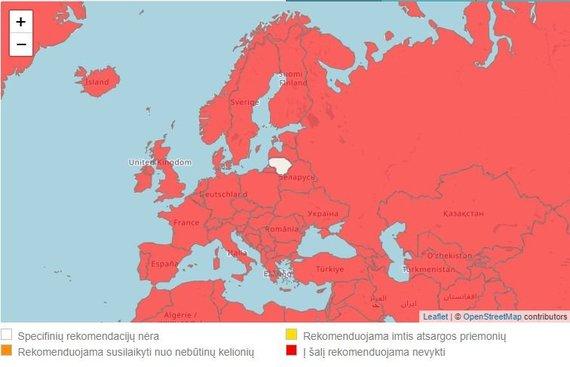 keliauk.urm.lt iliustr./URM rekomendacijos dėl kelionių į kitas šalis