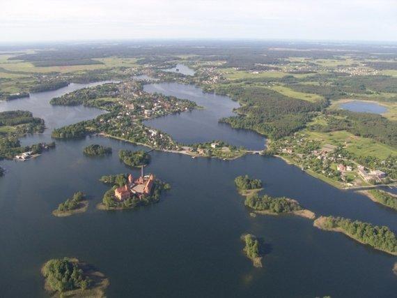 VSTT nuotr./Trakų ist. nac. parko ežerų panorama