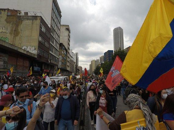 Byron Jimenez nuotr./Protestai Kolumbijoje