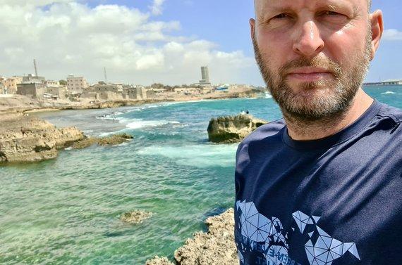 D.Pankevičiaus nuotr./Ilsiuosi Mogadiše prie jūros. Somalis