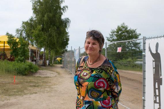 Vitos JUREVIČIENĖS/Vakarų ekspreso nuotr./Ponia Audronė ves ekskursiją negalią turintiems žmonėms ir papasakos Šventosios istoriją