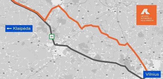 LAKD iliustr./Lietuvos automobilių kelių direkcija siūlo rinktis alternatyvų kelią pajūrio link