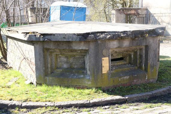 D.Nikitenkos nuotr./Dar vienas stebėjimo postas yra buvusios miesto skerdyklos Liepų g. kieme. Jis paženklintas kaip karinio paveldo objektas