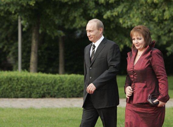 """""""Scanpix"""" nuotr./Vladimiras Putinas su žmona Liudmila"""