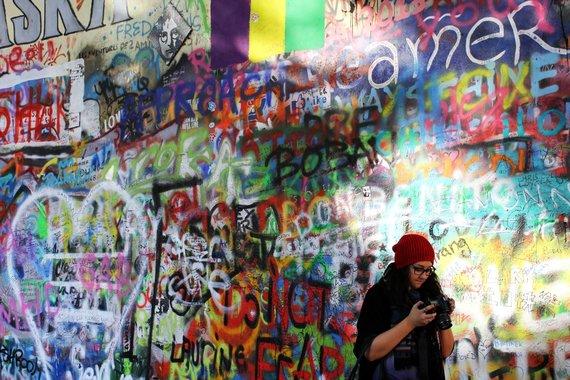 Indrės Bungardaitės/15min.lt nuotr./Johno Lennono siena