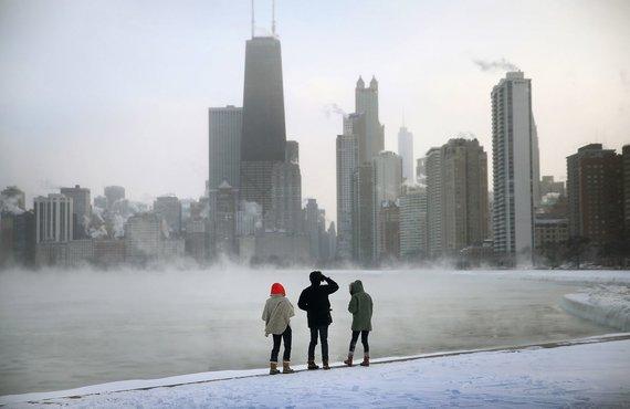 """""""Scanpix"""" nuotr./Žiema Čikagoje"""