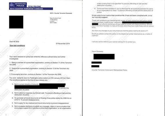 """""""Channel 4"""" iliustr./Britų policijos išsiųstas laiškas"""