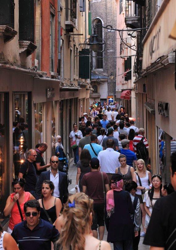 123rf.com nuotr./Turistai Venecijoje