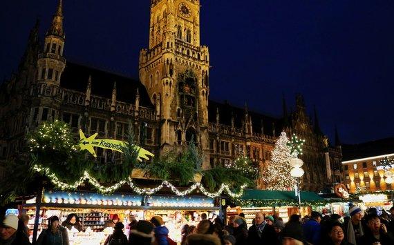 Indrės Bungardaitės/15min nuotr./Kalėdų mugė Marienplatz