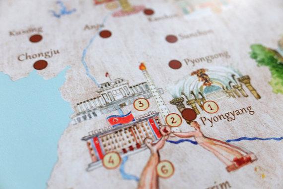 Karolio Žukausko nuotr./Žemėlapio misija Šiaurės Korėjoje