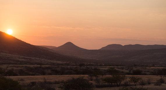 """""""Špikio"""" nuotr./Saulėlydis Afrikos savanoje"""