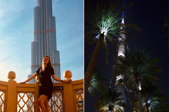 Skrendu.lt nuotr./Burj Khalifa dieną ir naktį