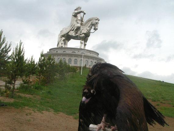 G.Juocevičiūtės nuotr./Čingischano statula-muziejus