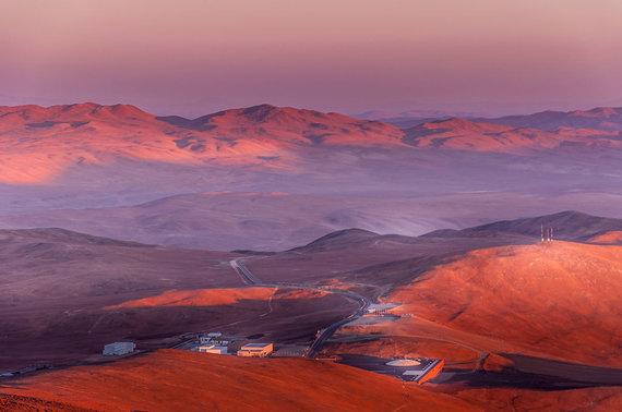 Shutterstock.com nuotr./Paranalio observatorija, Atakamos dykuma, Čilė