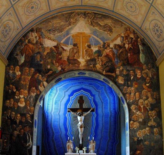 """""""Wikimedia Commons"""" nuotr./Šilutės evangelikų liuteronų bažnyčios vidus"""