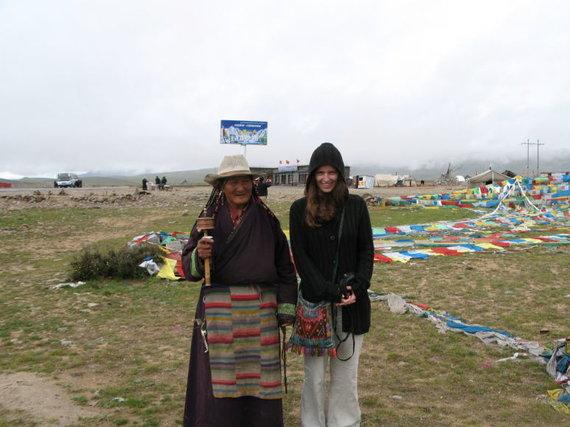 Raimondo Dikčiaus nuotr./Straipsnio autorė Tibete