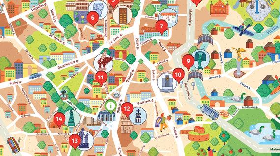 """Žemėlapis-žaidimas """"Vilnius vaikams"""""""