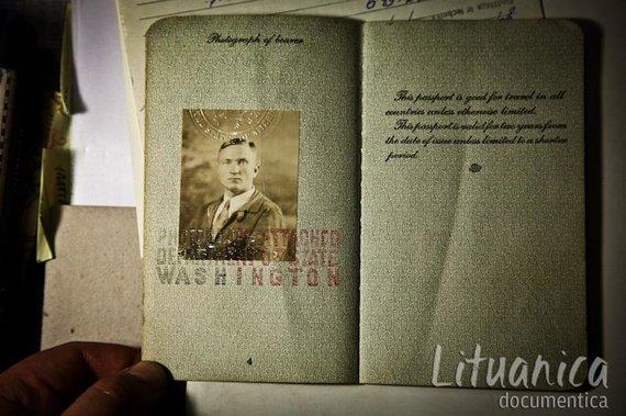 B.Tilmanaitės/lituanica-documentica.lt nuotr./Stepono Dariaus JAV pasas