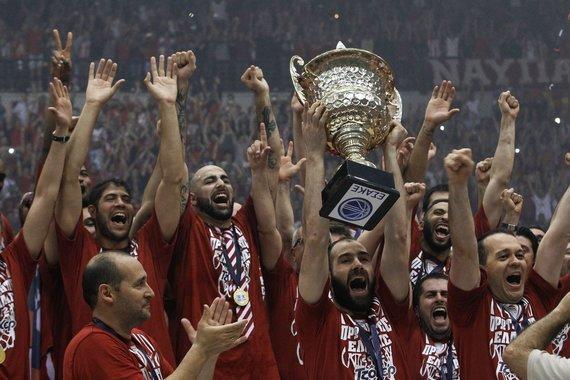 """""""Reuters""""/""""Scanpix"""" nuotr./""""Olympiakos"""" triumfavo Graikijos čempionate"""