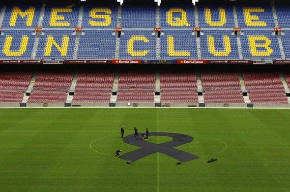 "AFP/""Scanpix"" nuotr./""Barcelona"" būstinėje – gedulas"
