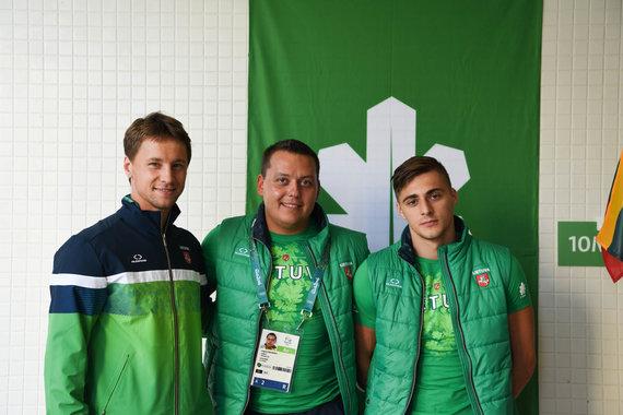 LTOK nuotr./Ričardas Berankis, Robertas Tvorogalas (deš.) ir pastarojo treneris Jevgenijus Izmodenovas