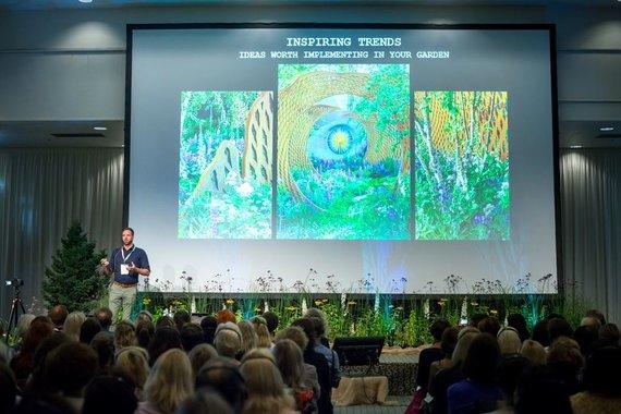 """Asmeninio archyvo nuotr. /""""Garden style"""" konferencijoje"""